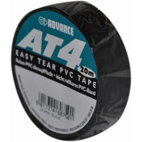 ADVANCE Gaffa AT4 Tape noir 19mm/20m