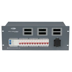 SHOWTEC PSA-32A12M 12x MCB, Schuko + Multipin out